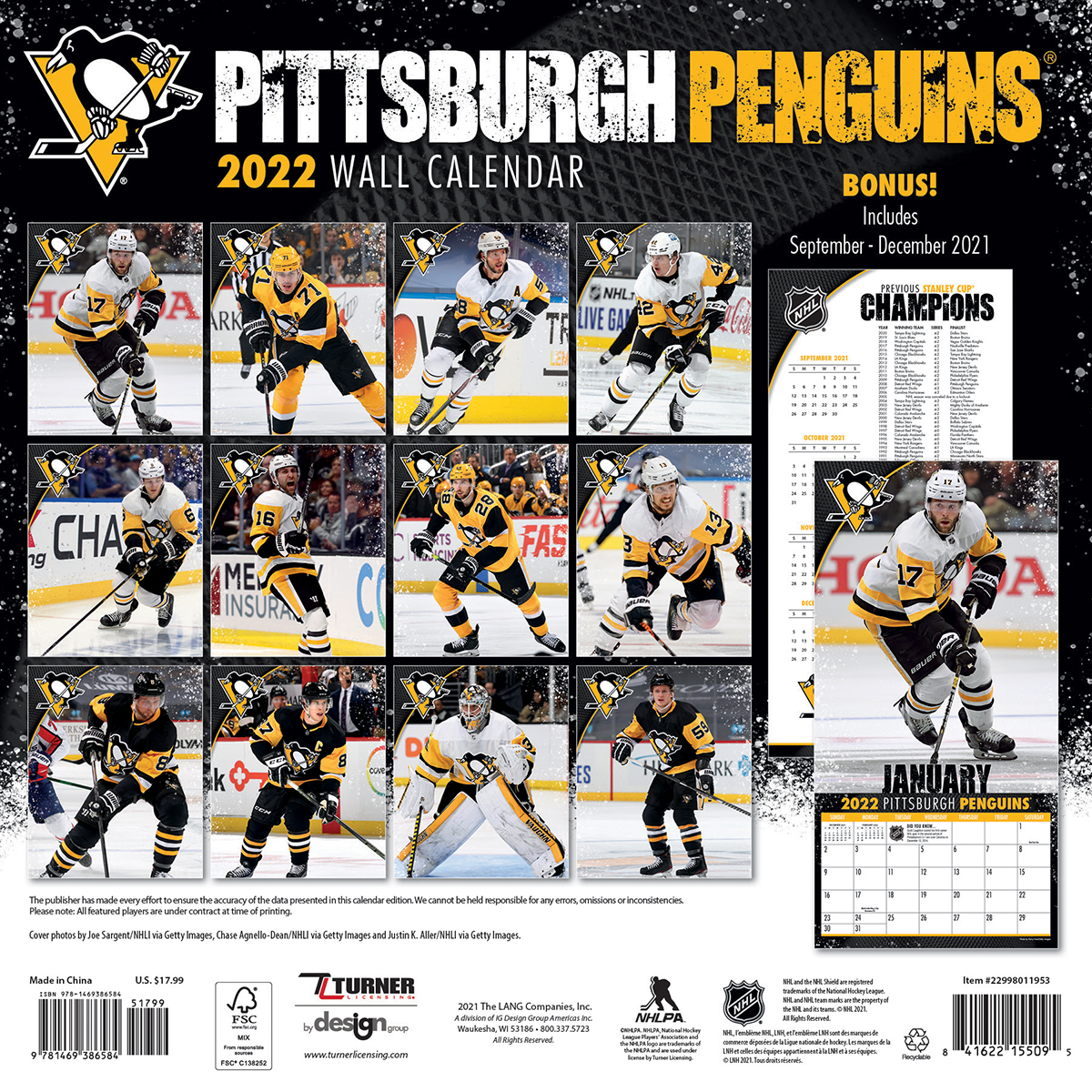 Pittsburgh Penguins 2018 Mini Wall Calendar Buy At Khc