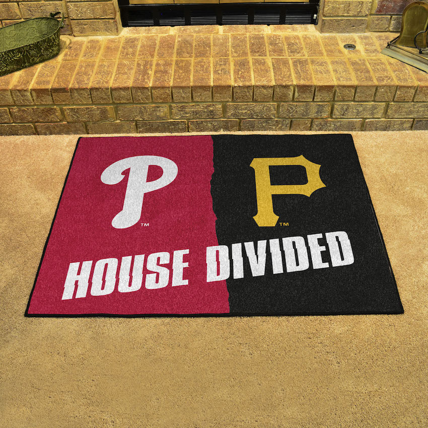 MLB House Divided Rivalry Rug Pittsburgh Pirates - Philadelphia Phillies