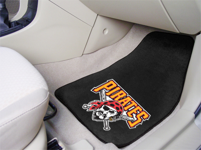 Pittsburgh Pirates Car Floor Mats 18 x 27 Carpeted-Pair