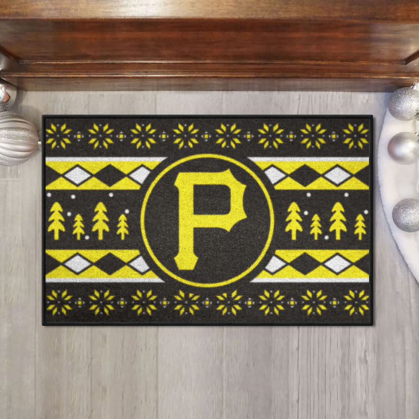 Pittsburgh Pirates HOLIDAY SWEATER 20 x 30 STARTER Floor Mat