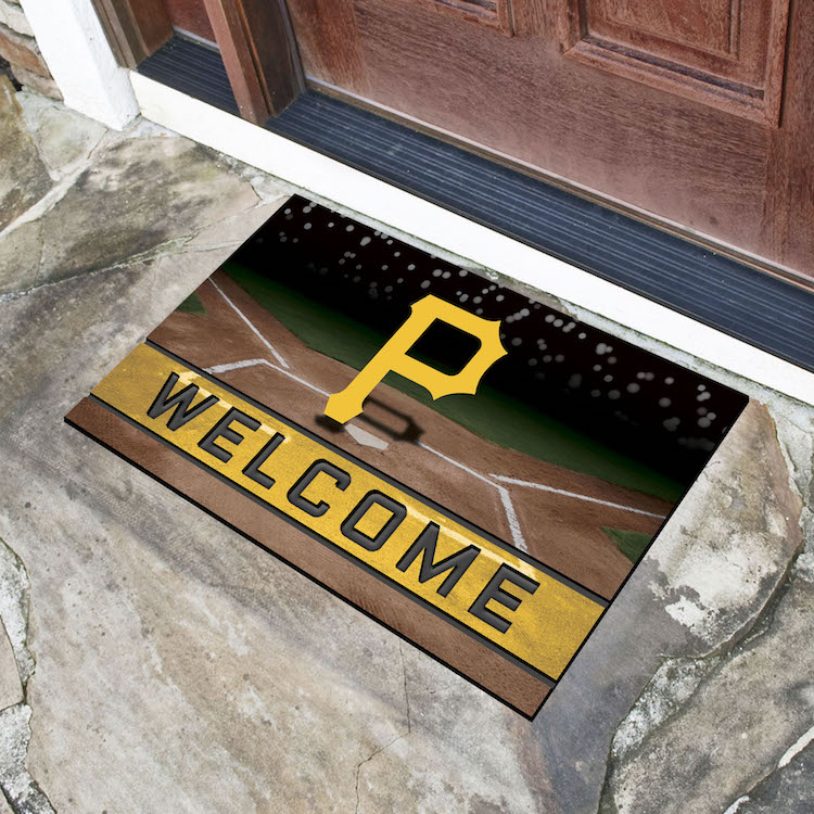 Pittsburgh Pirates Recycled Crumb Rubber Door Mat