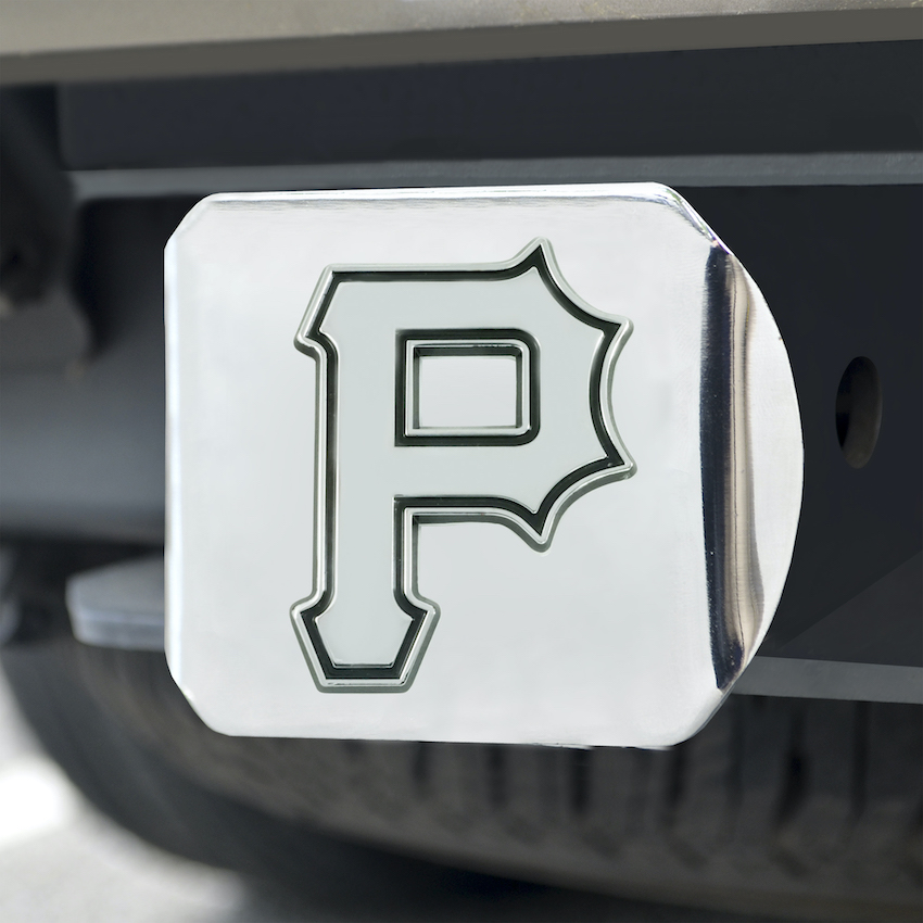 Pittsburgh Pirates Chrome Trailer Hitch Cover