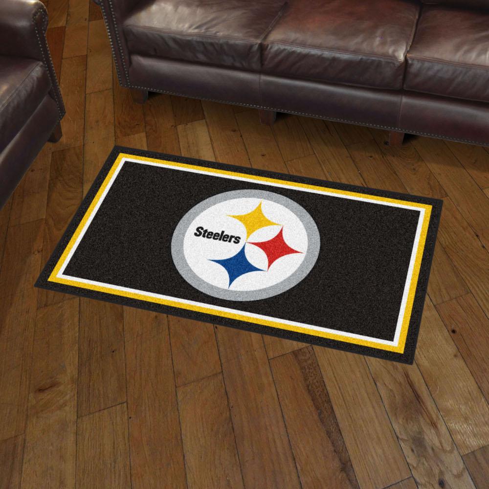 Fanmats Seattle Seahawks 3 Ft X 6 Ft Football Field: Pittsburgh Steelers 3x5 Area Rug