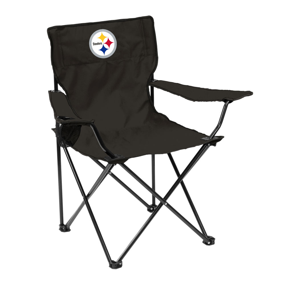 Pittsburgh Steelers QUAD style logo folding camp chair