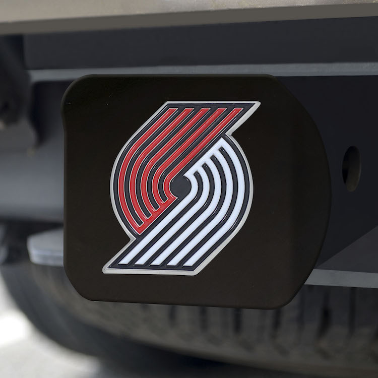Portland Trail Blazers Black and Color Trailer Hitch Cover