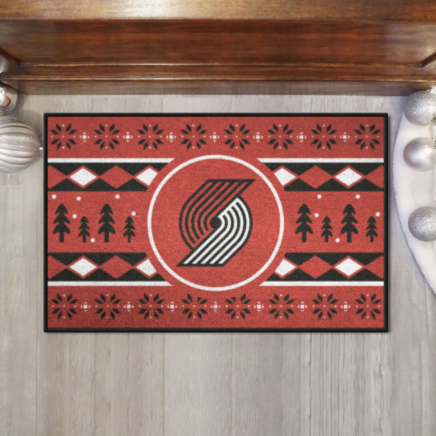 Portland Trail Blazers HOLIDAY SWEATER 20 x 30 STARTER Floor Mat