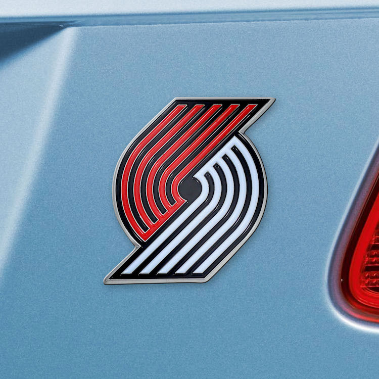 Portland Trail Blazers Color Metal Auto Emblem