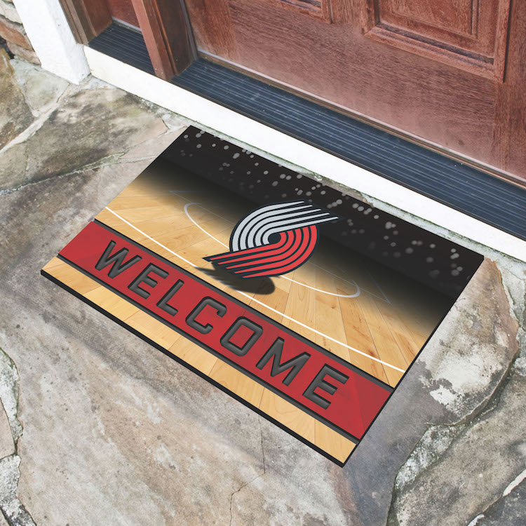 Portland Trail Blazers Recycled Crumb Rubber Door Mat