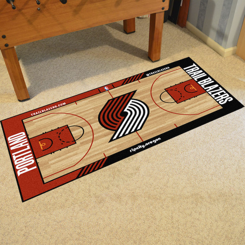 Portland Trail Blazers 30 x 54 LARGE Basketball Court Carpet Runner