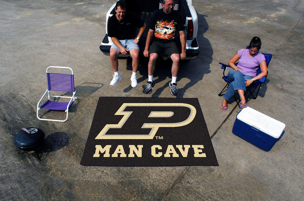 Purdue Boilermakers MAN CAVE TAILGATER 60 x 72 Rug