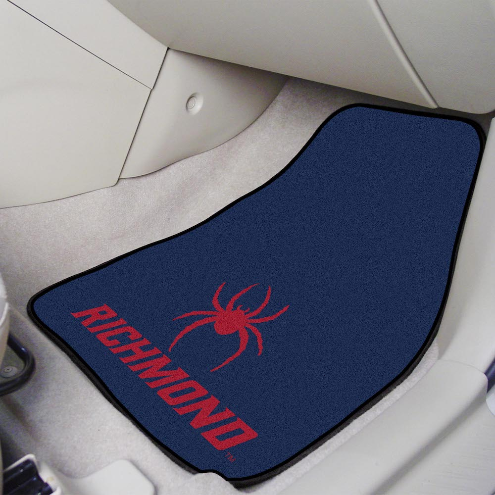 Richmond Spiders Car Floor Mats 18 x 27 Carpeted-Pair