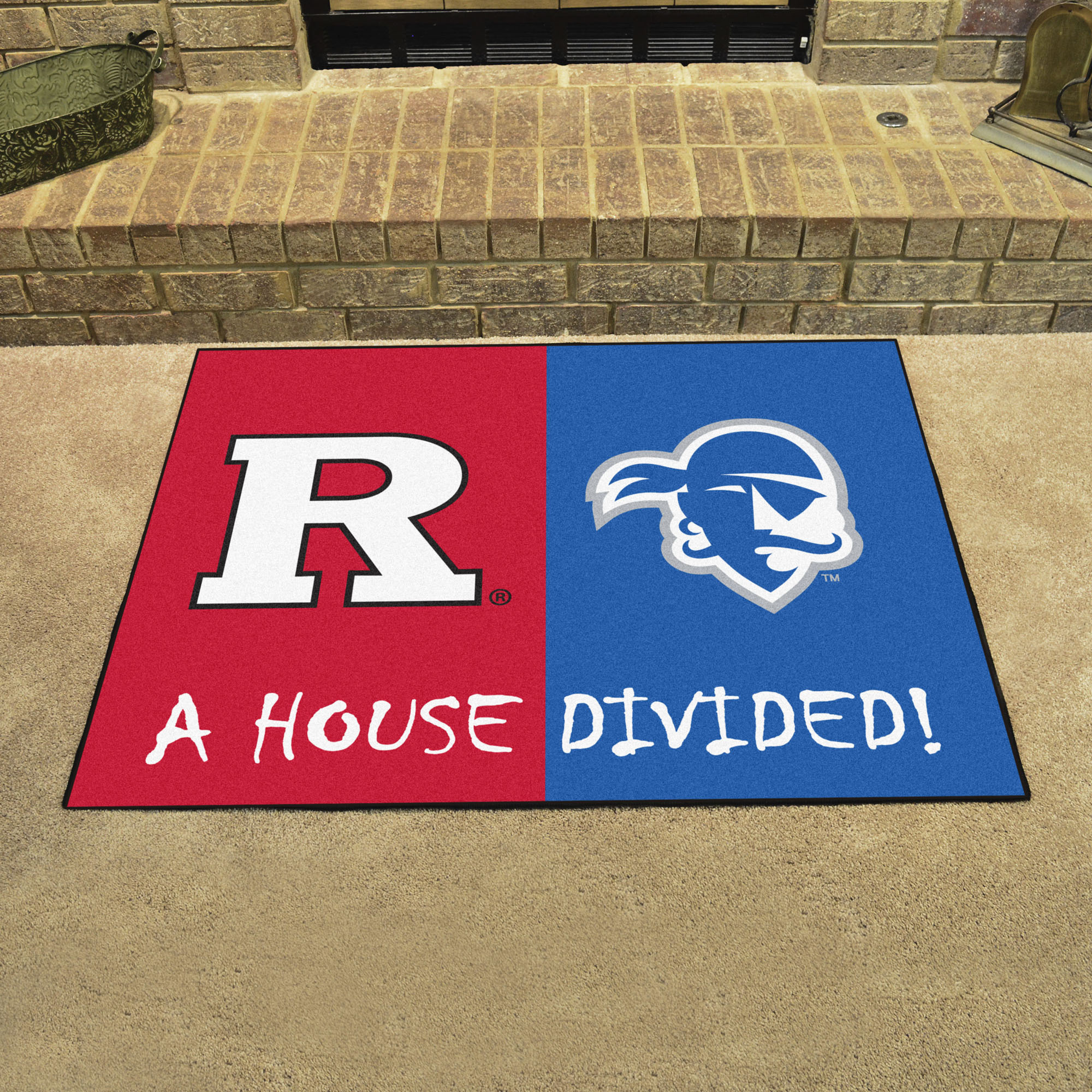 NCAA House Divided Rivalry Rug Rutgers Scarlet Knights - Seton Hall Pirates