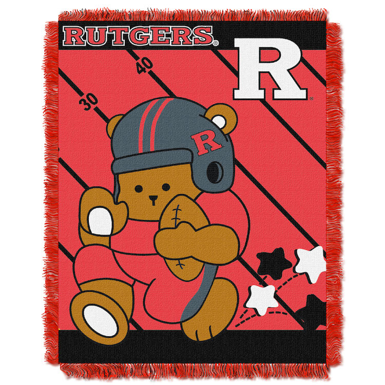 Rutgers Scarlet Knights Woven Baby Blanket 36 x 48