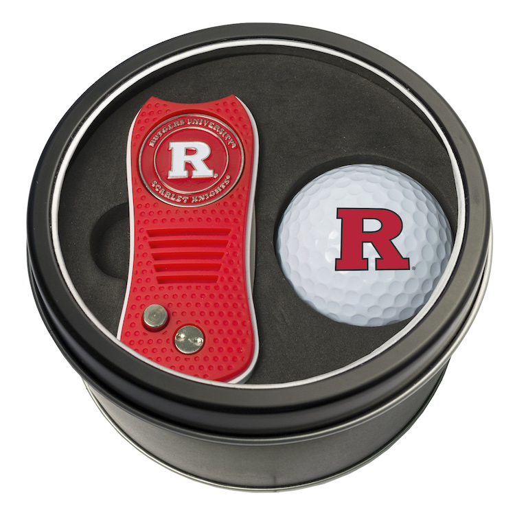 Rutgers Scarlet Knights Switchblade Divot Tool and Golf Ball Gift Pack