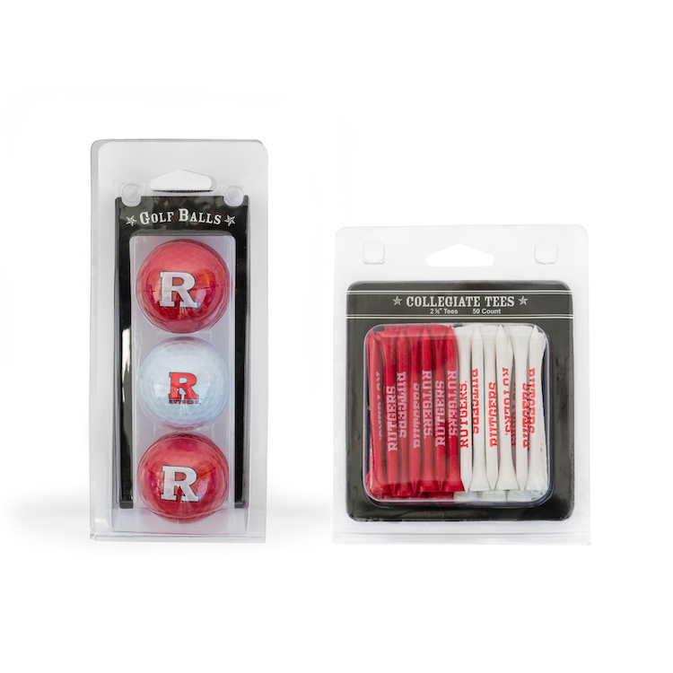 Rutgers Scarlet Knights 3 Ball Pack and 50 Tee Pack