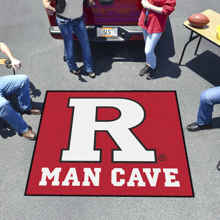 Rutgers Scarlet Knights MAN CAVE TAILGATER 60 x 72 Rug