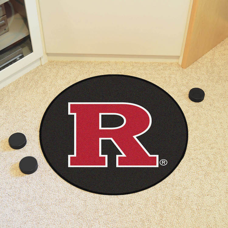 Rutgers Scarlet Knights Round Hockey Puck Mat
