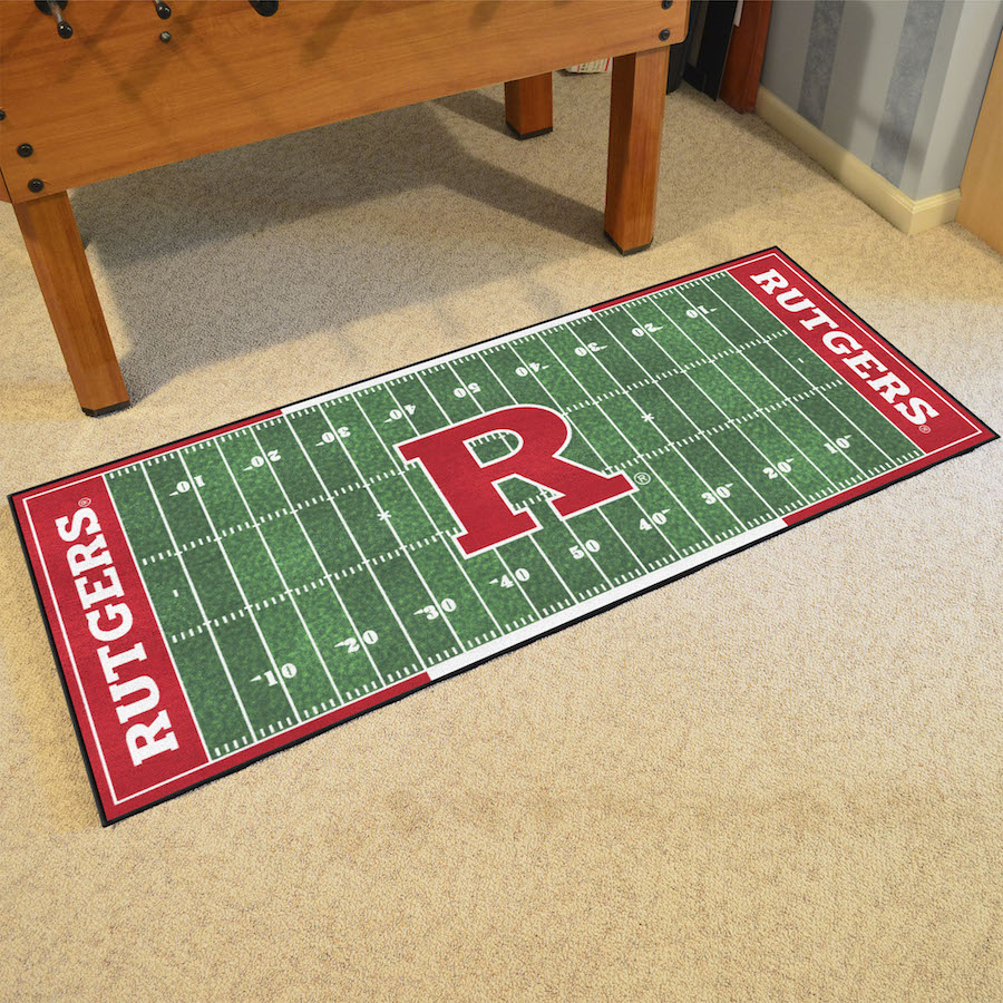 Rutgers Scarlet Knights 30 x 72 Football Field Carpet Runner