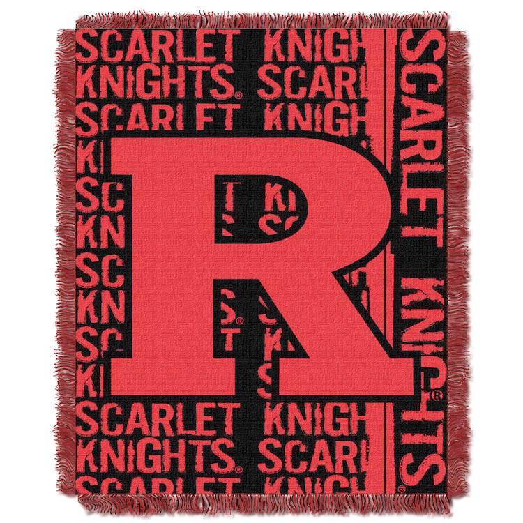 Rutgers Scarlet Knights Double Play Tapestry Blanket 48 x 60