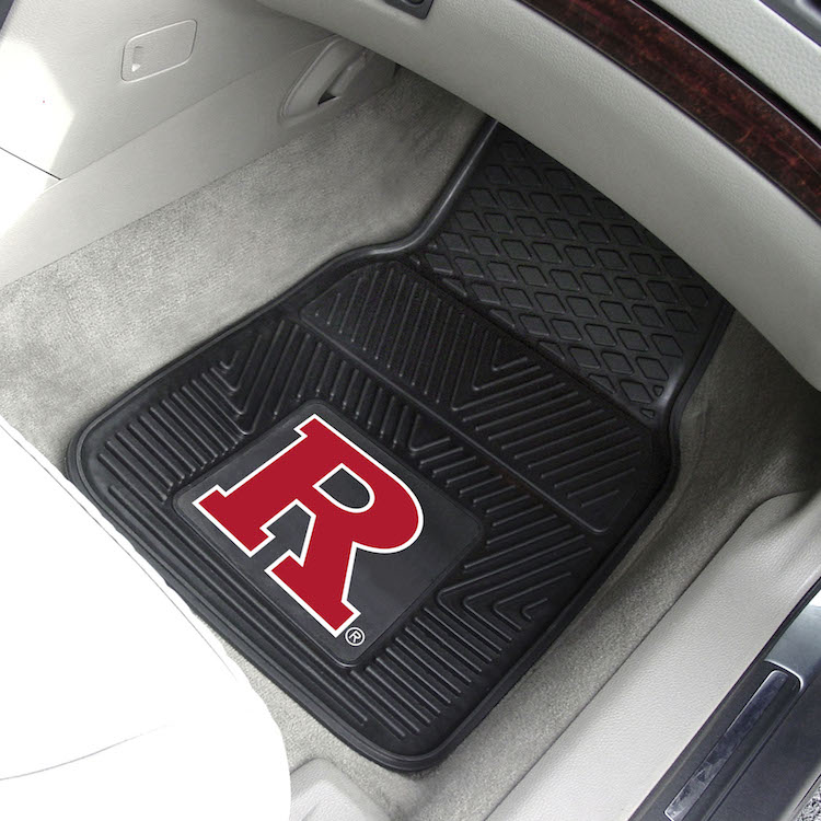 Rutgers Scarlet Knights Car Floor Mats 18 x 27 Heavy Duty Vinyl Pair