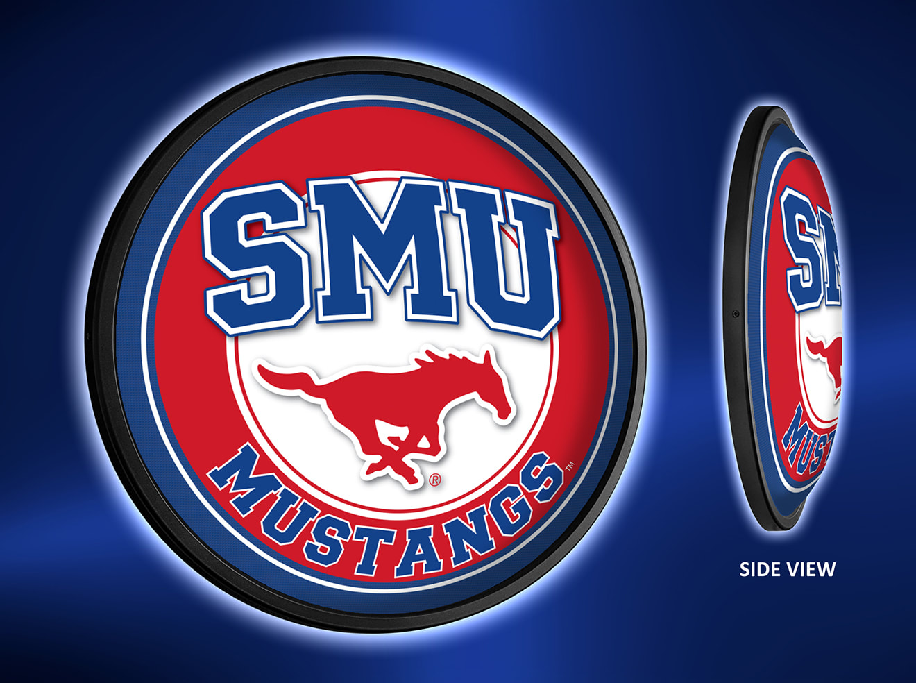 SMU Mustangs Slimline LED Wall Sign ~ PRIMARY