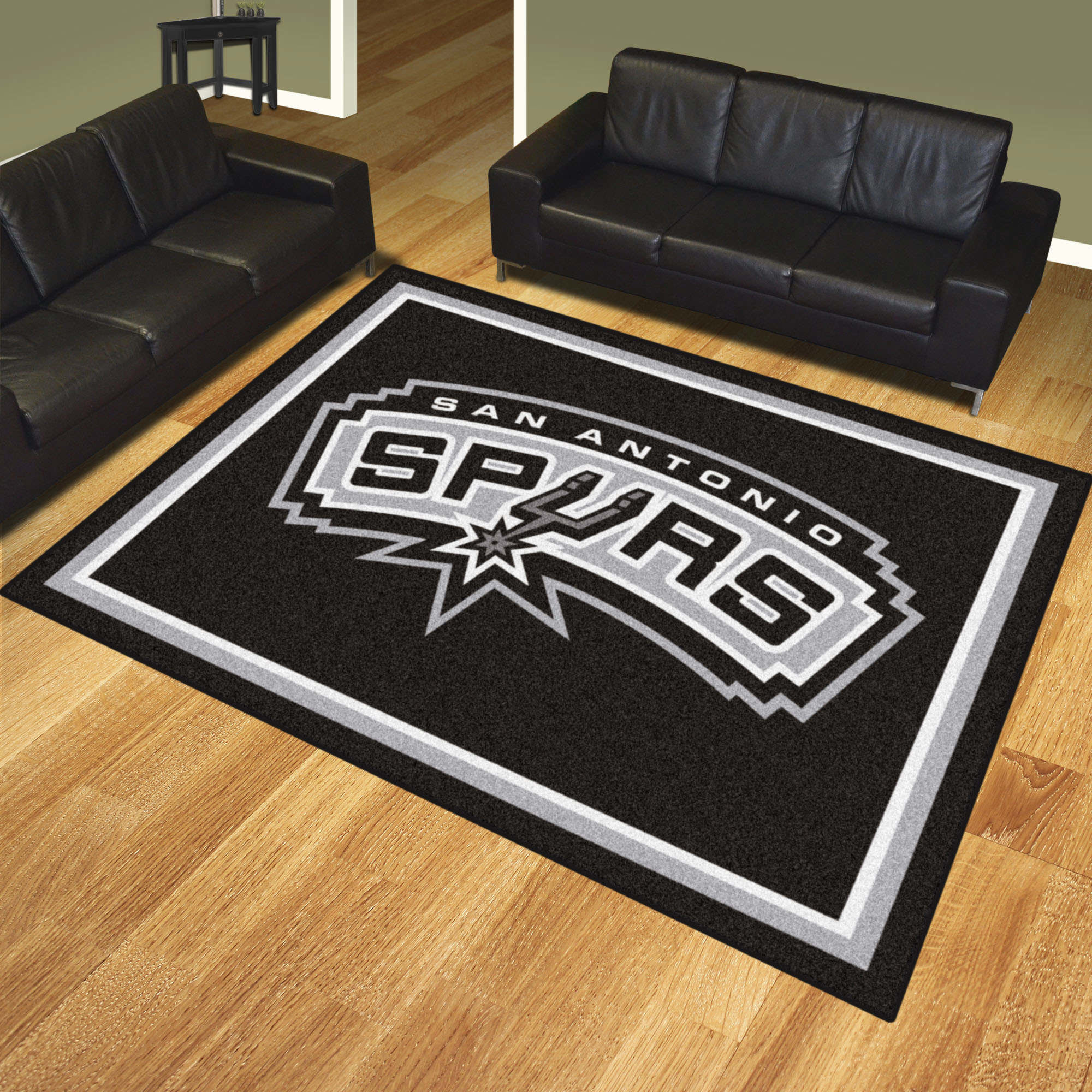 San Antonio Spurs Ultra Plush 8x10 Area Rug