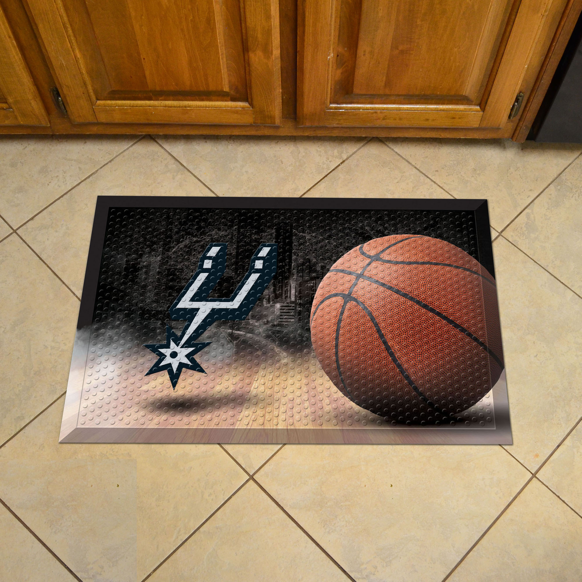 San Antonio Spurs Ball Style SCRAPER Door Mat