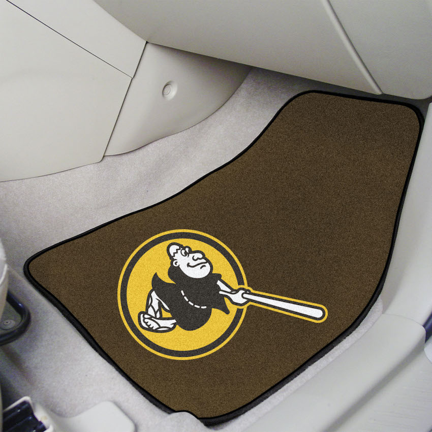 San Diego Padres ALT LOGO Car Floor Mats 18 x 27 Carpeted-Pair