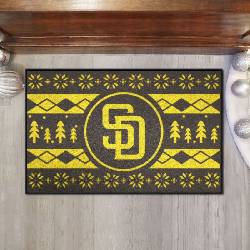 San Diego Padres HOLIDAY SWEATER 20 x 30 STARTER Floor Mat