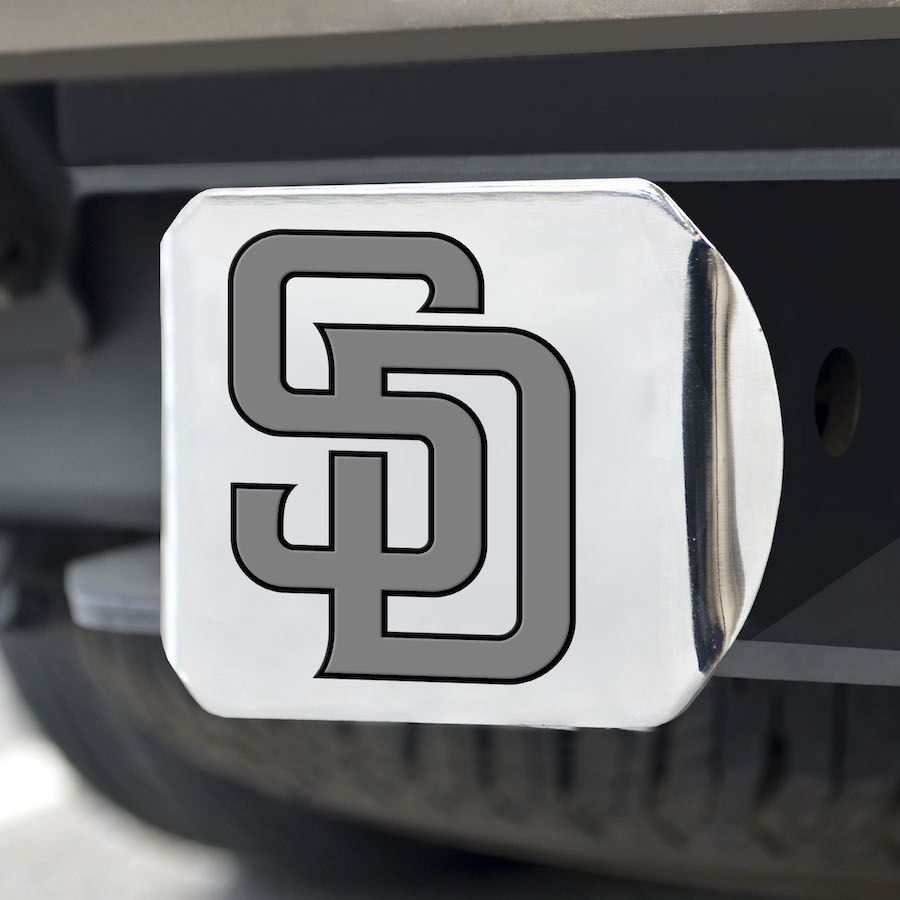 San Diego Padres Chrome Trailer Hitch Cover
