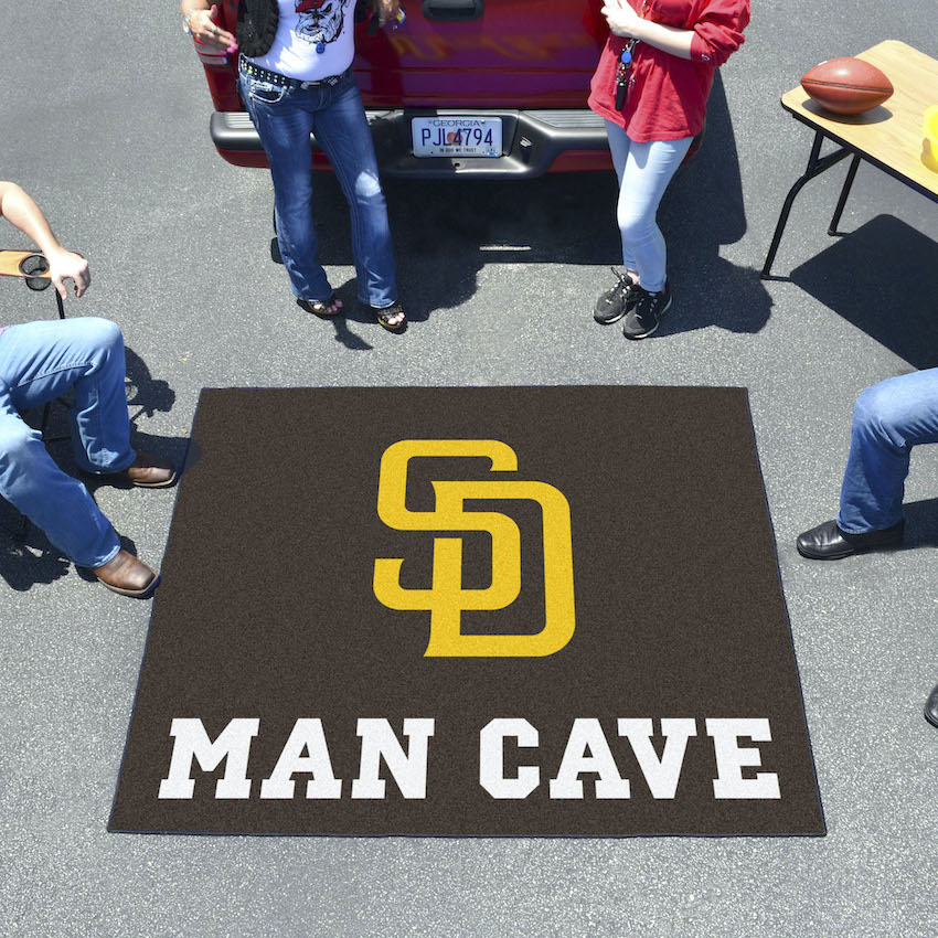 San Diego Padres MAN CAVE TAILGATER 60 x 72 Rug