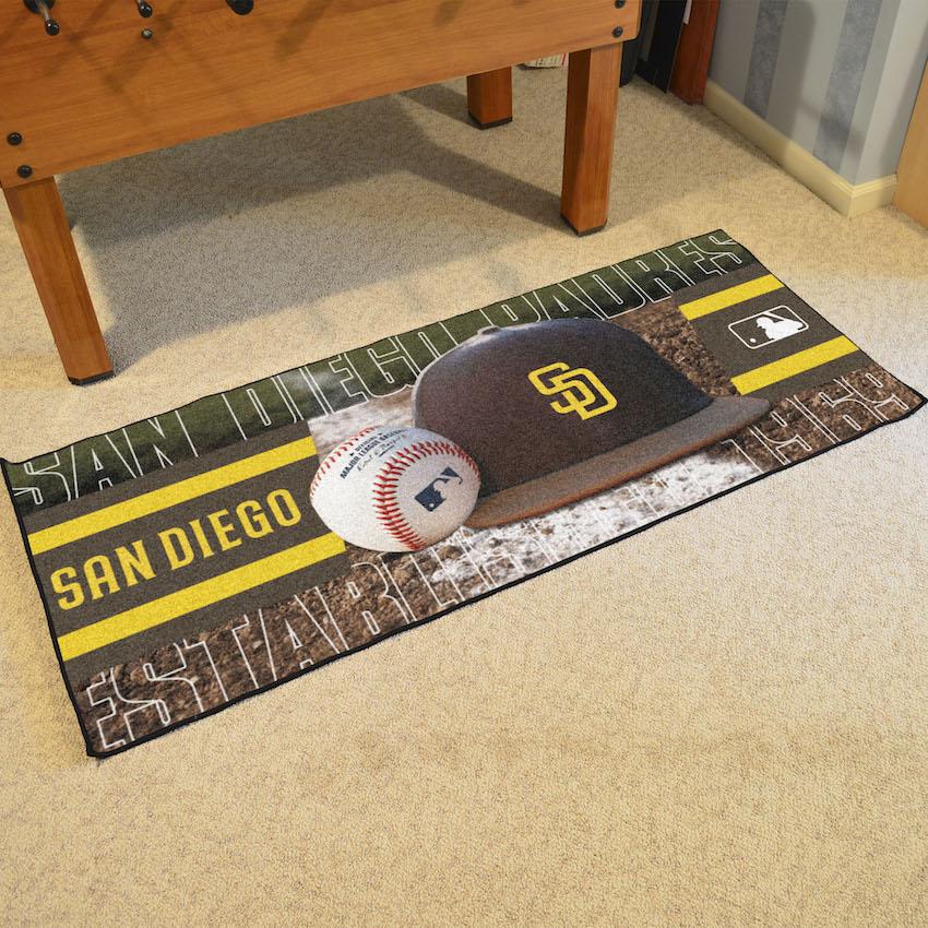 San Diego Padres Baseball Carpet Runner 30 X 72 Floor Mat