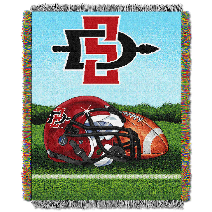 San Diego State Aztecs Home Field Advantage Series Tapestry Blanket 48 x 60
