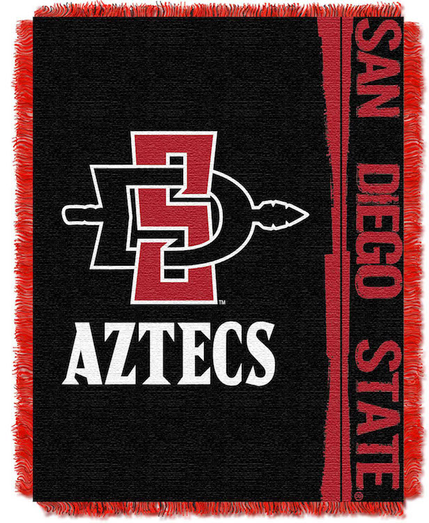 San Diego State Aztecs Double Play Tapestry Blanket 48 x 60