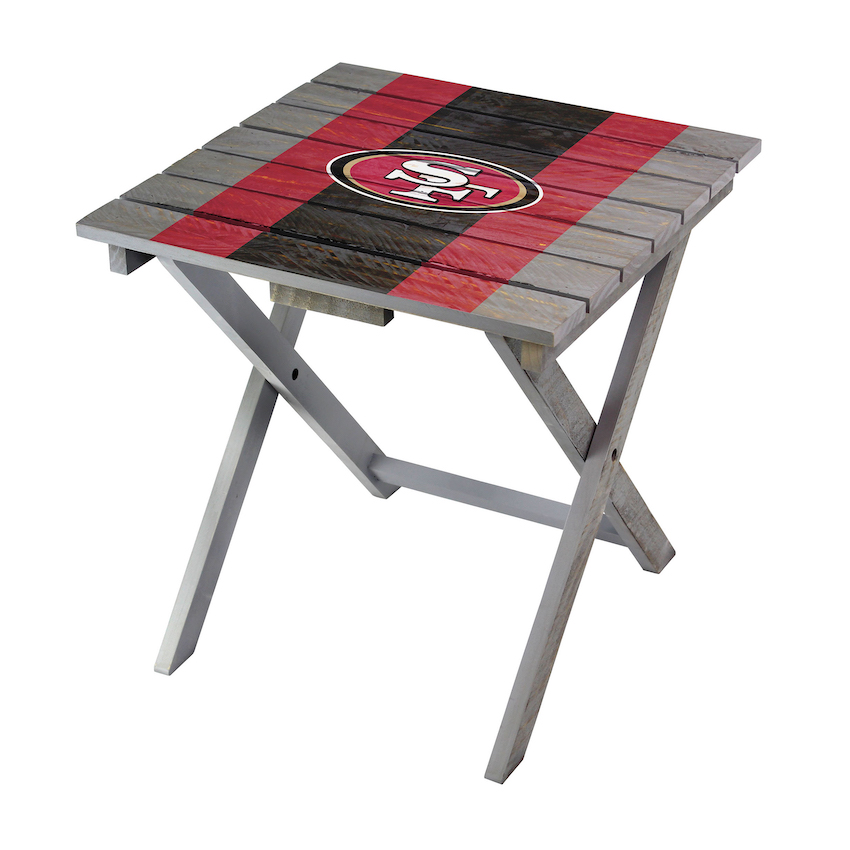 San Francisco 49ers Wooden Adirondack Folding Table