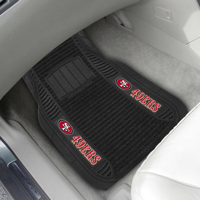 San Francisco 49ers Deluxe 20 x 27 Car Floor Mats