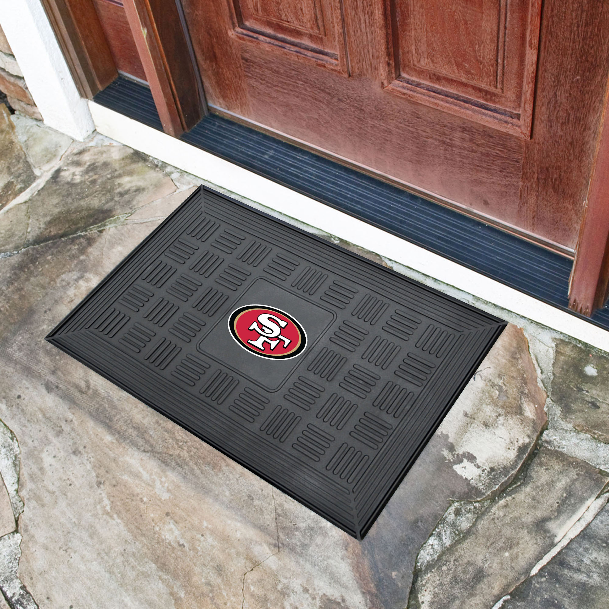 San Francisco 49ers MEDALLION Vinyl Door Mat