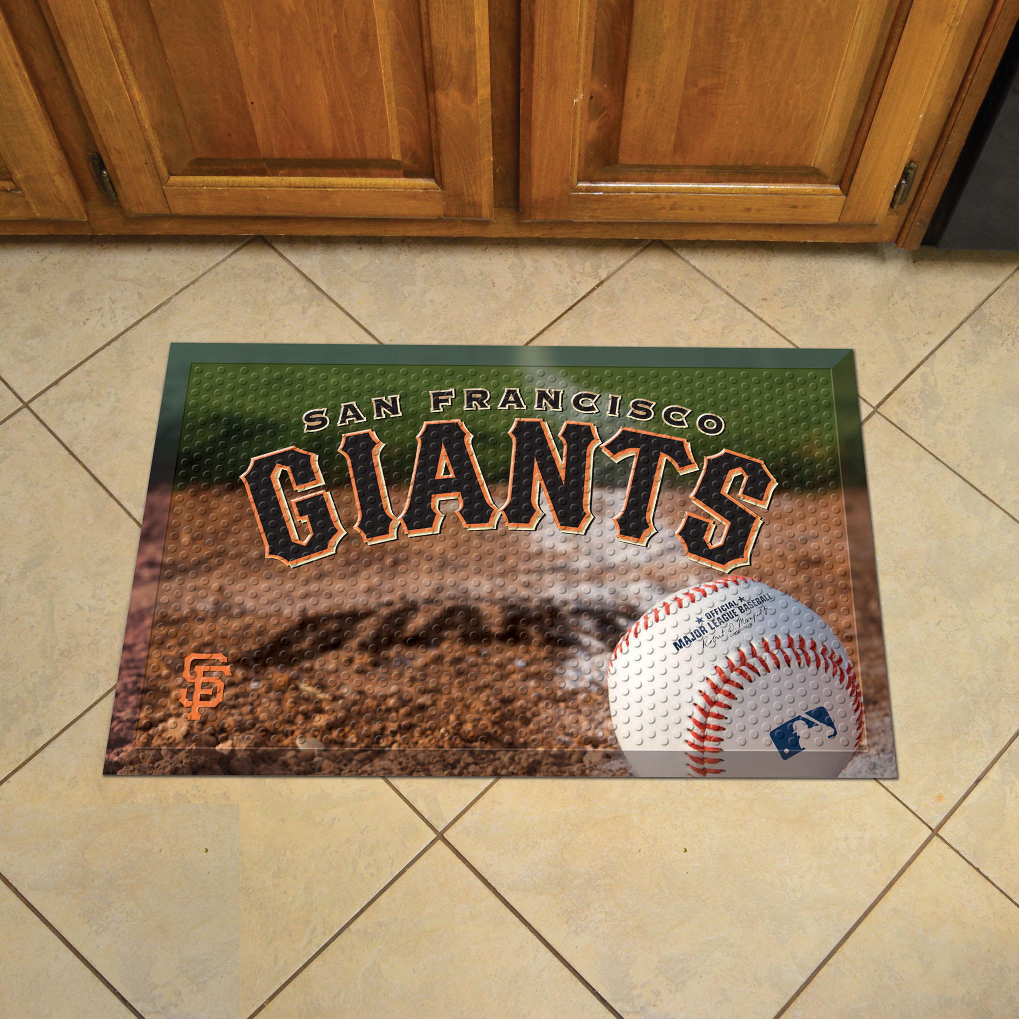 San Francisco Giants Ball Style SCRAPER Door Mat
