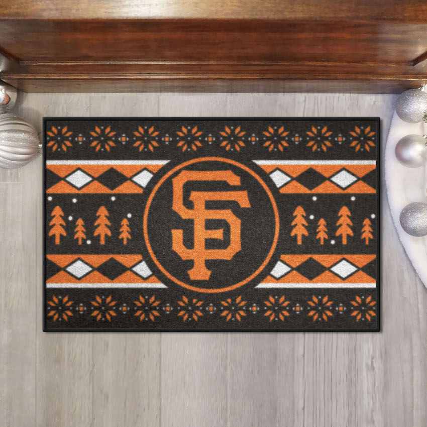 San Francisco Giants HOLIDAY SWEATER 20 x 30 STARTER Floor Mat