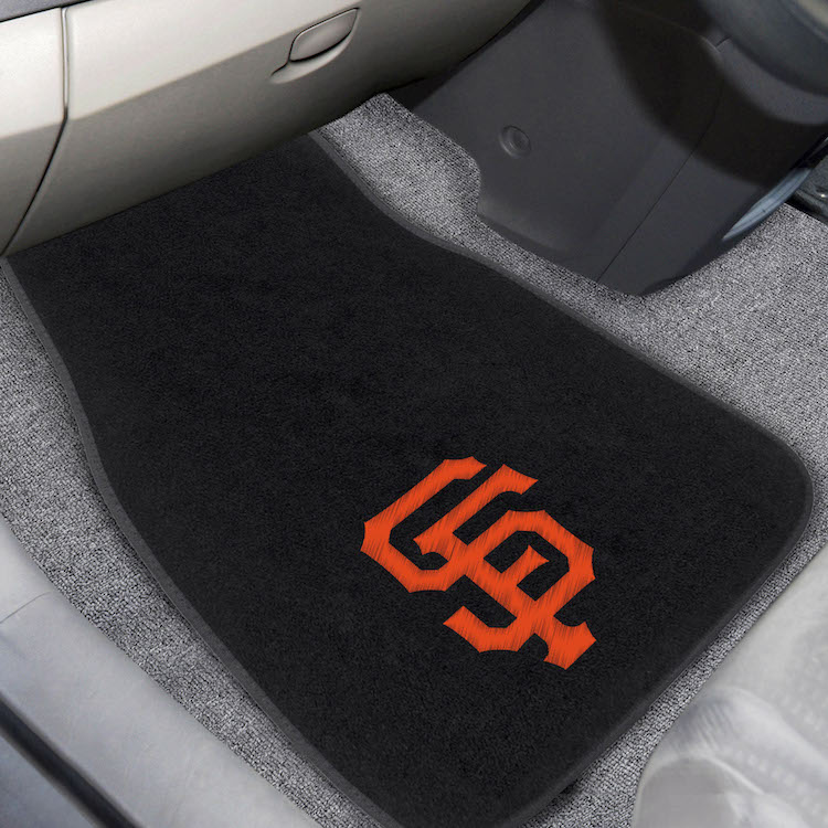 San Francisco Giants Car Floor Mats 17 x 26 Embroidered Pair