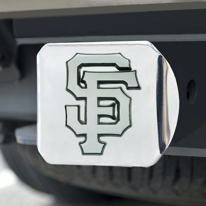 San Francisco Giants Chrome Trailer Hitch Cover