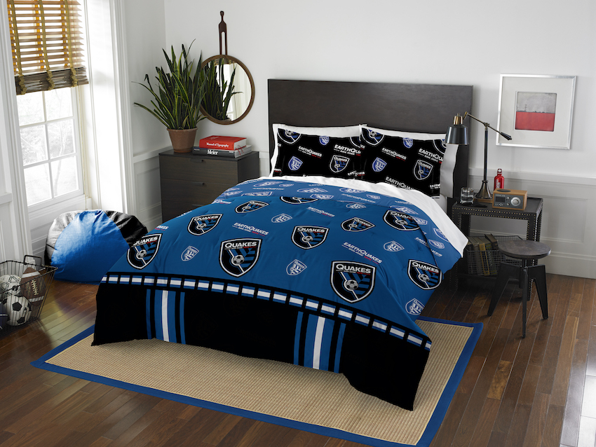 San Jose Earthquakes QUEEN/FULL size Comforter and 2 Shams