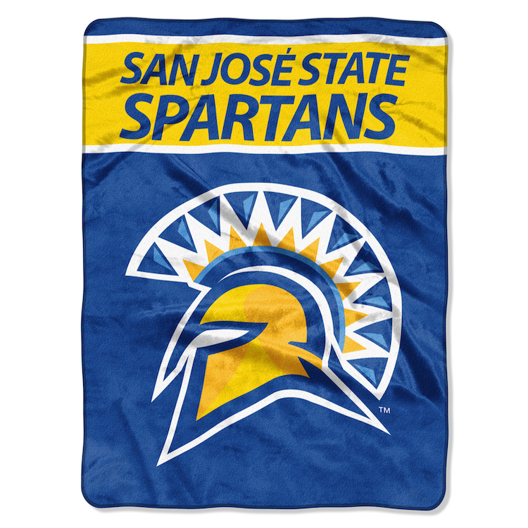 San Jose State Spartans Large Plush Fleece OVERTIME 60 x 80 Blanket