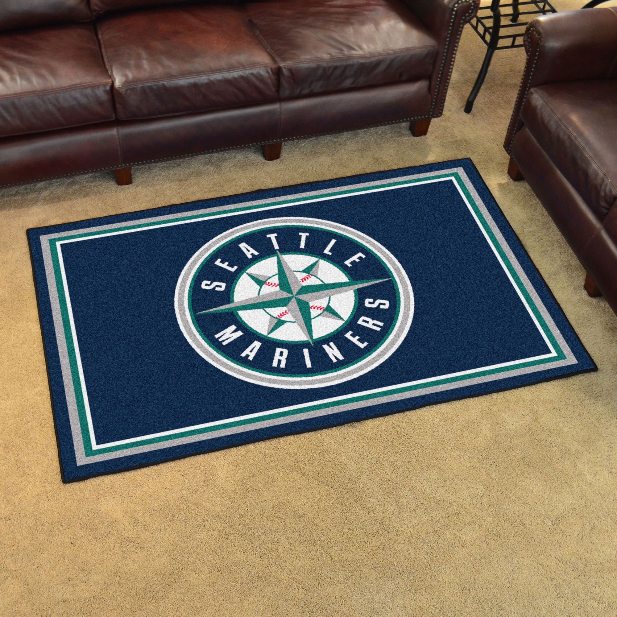 Seattle Mariners 4x6 Area Rug