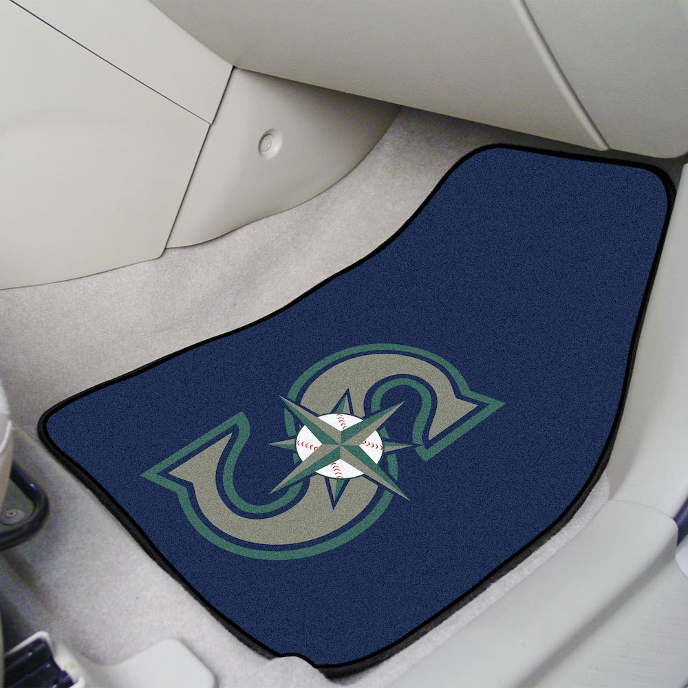 Seattle Mariners Car Floor Mats 18 x 27 Carpeted-Pair