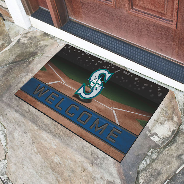 Seattle Mariners Recycled Crumb Rubber Door Mat