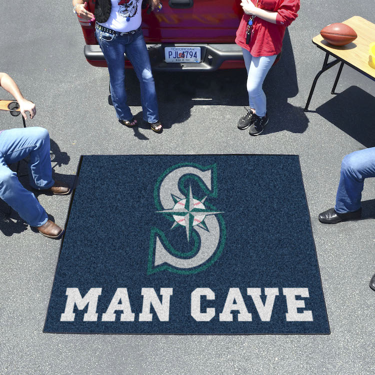 Seattle Mariners MAN CAVE TAILGATER 60 x 72 Rug