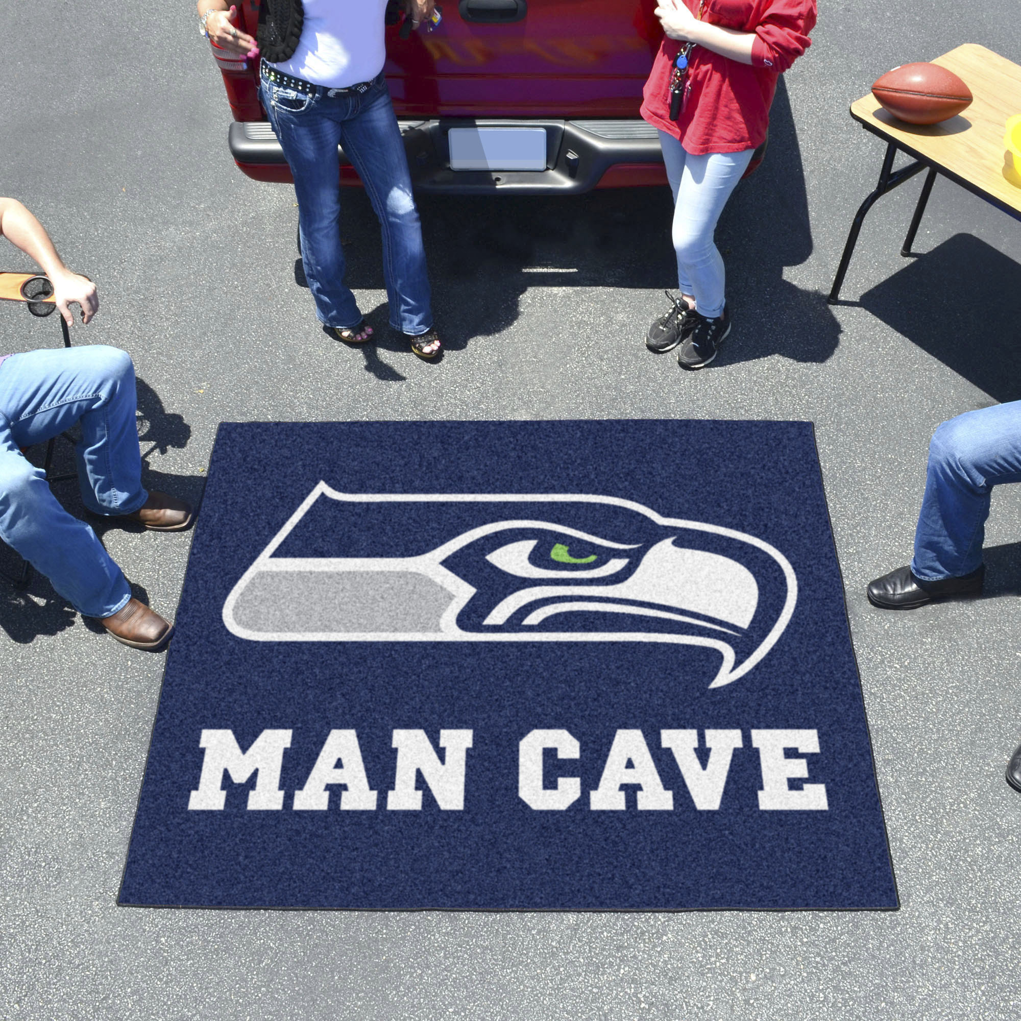Seattle Seahawks MAN CAVE TAILGATER 60 x 72 Rug