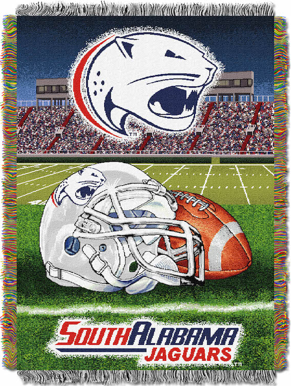 South Alabama Jaguars Home Field Advantage Series Tapestry Blanket 48 x 60