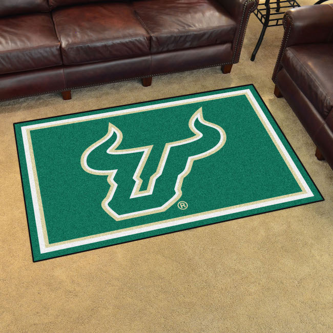 South Florida Bulls 4x6 Area Rug